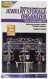 Jobar Organizing Jewelry Valet coated wire (White) (14.5'H x 23.75'W x 2.375'D)