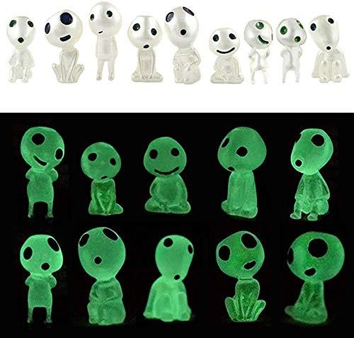 ayomika 10 Pcs Fairy Garden Accessories Glow in Dark Tree Elves Garden Decor Miniature Luminous Ghost for Micro…