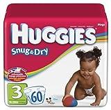 Huggies Baby Diapers, Snug & Dry, Size 3 (16 - 28 lbs), 32 ct Image