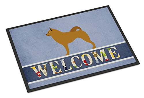 "Caroline's Treasures Finnish Spitz Welcome Doormat, 18"" x 27"", Multicolor"