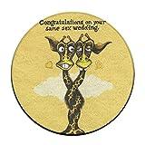 Circle Bathroom Rug Mat Flannel Extra Soft Shower Bath Rugs Shower Carpet Round Bath Mat Giraffe Same Sex Wedding