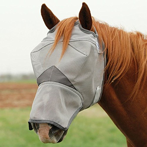 Cashel Crusader Fly Mask with Long Nose - Size: Horse by Cashel
