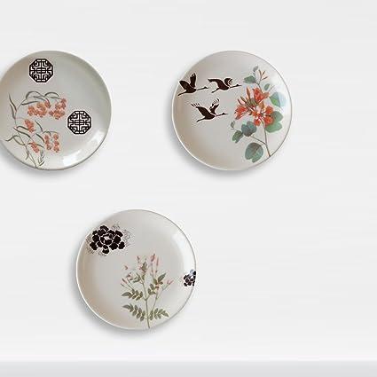 Buy Cyahi - Rising Sun-Set of 3 Decorative Wall Hanging Plates with ...