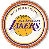 Los Angeles (LA) Lakers - Edible Cake Topper - 10'' round