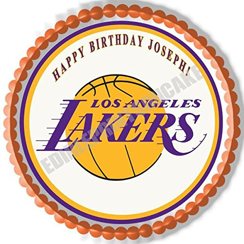 Los Angeles (LA) Lakers - Edible Cake Topper - 7.5
