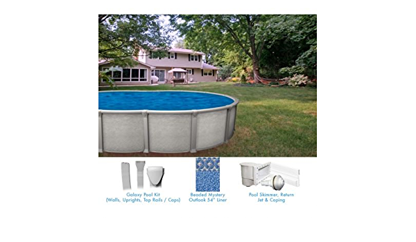 Galaxy 15 X 30 Ft Oval Buttress Free Above Ground Pool Custom Package Tools Home Improvement Amazon Canada