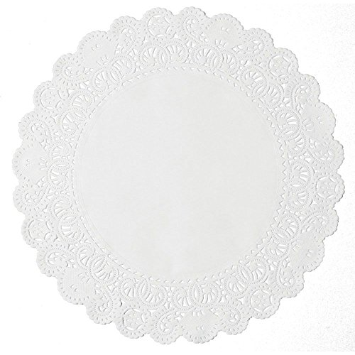 Lapaco 8'' White Normandy Lace Doily by Lapaco Paper Products