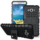 Galaxy Grand Prime Case, FoneExpert® Heavy Duty Rugged Impact Armor Hybrid Kickstand Protective Cover Case For Samsung Galaxy Grand Prime G530 G5308 + Screen Protector & Cloth (Black)