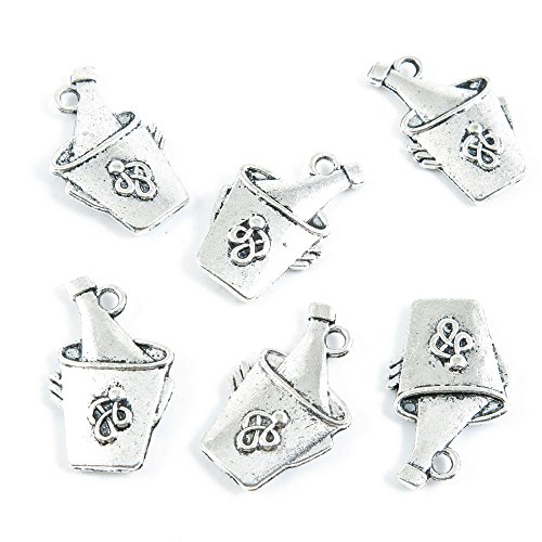 lver Tone Jewelry Making Charms Supply Wholesale Z4SK9 Wine Ice Bucket ()