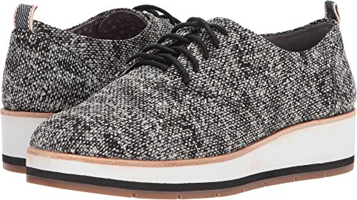 ED Ellen DeGeneres Women's Oberlin Black/White/Blue Multi Pixel Tweed/Selvidge Ribbon 8.5 M US by ED Ellen DeGeneres