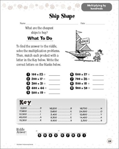 Counting Number worksheets future going to worksheets : Amazon.com: Scholastic Success With: Math Workbook: Grade 4 ...