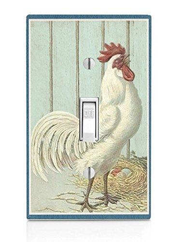 Rooster Light Switch Plate