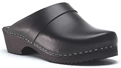 Clogs 2 EU hombre de 36 3 talla para Piel Zuecos color World of com Marrón an64557