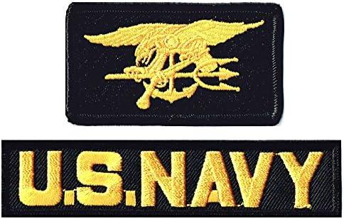 ミリタリーワッペン NAVY SEALs+NAVYタブ2Pセット