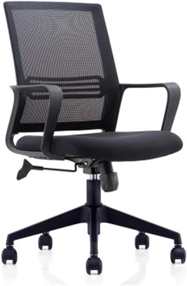 Las sillas de Escritorio Silla Silla de Oficina Silla del Personal del Acoplamiento Conferencia Rotary Silla de elevación Sencillo Arco Volver Ordenador Mesh + Esponja + Nylon para Ordenador