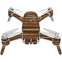 Skin For Yuneec Breeze 4K Drone – Dark Zebra Wood | MightySkins Protective, Durable, and Unique Vinyl Decal wrap cover | Easy To Apply, Remove, and Change Styles | Made in the USA