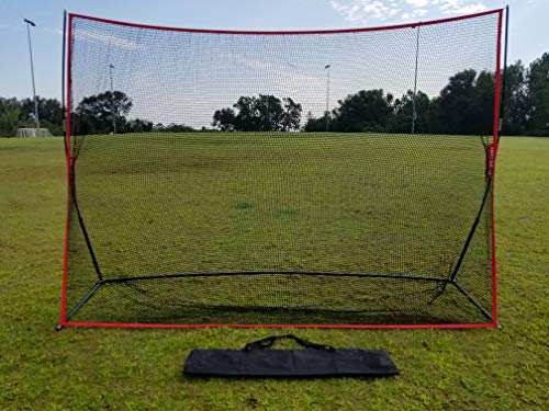 Large 10 X 7 Portable Golf Net - Great for year around golf practice - Can be used to hit balls indoors or outdoors. Large hitting area to catch all golf shots by Sport Nets (Image #4)