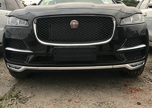 Beautost Fit for Fit for Jaguar F-Pace,F-Pace Premium,F-Pace Prestige,2016 2017 2018 2019 Front Grill Grille Bumper Cover Trim Matte Chrome by Beautost (Image #7)