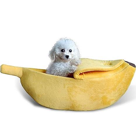 mi ji Plátano Linda Forma de Gato Habitación con Cama casa ...