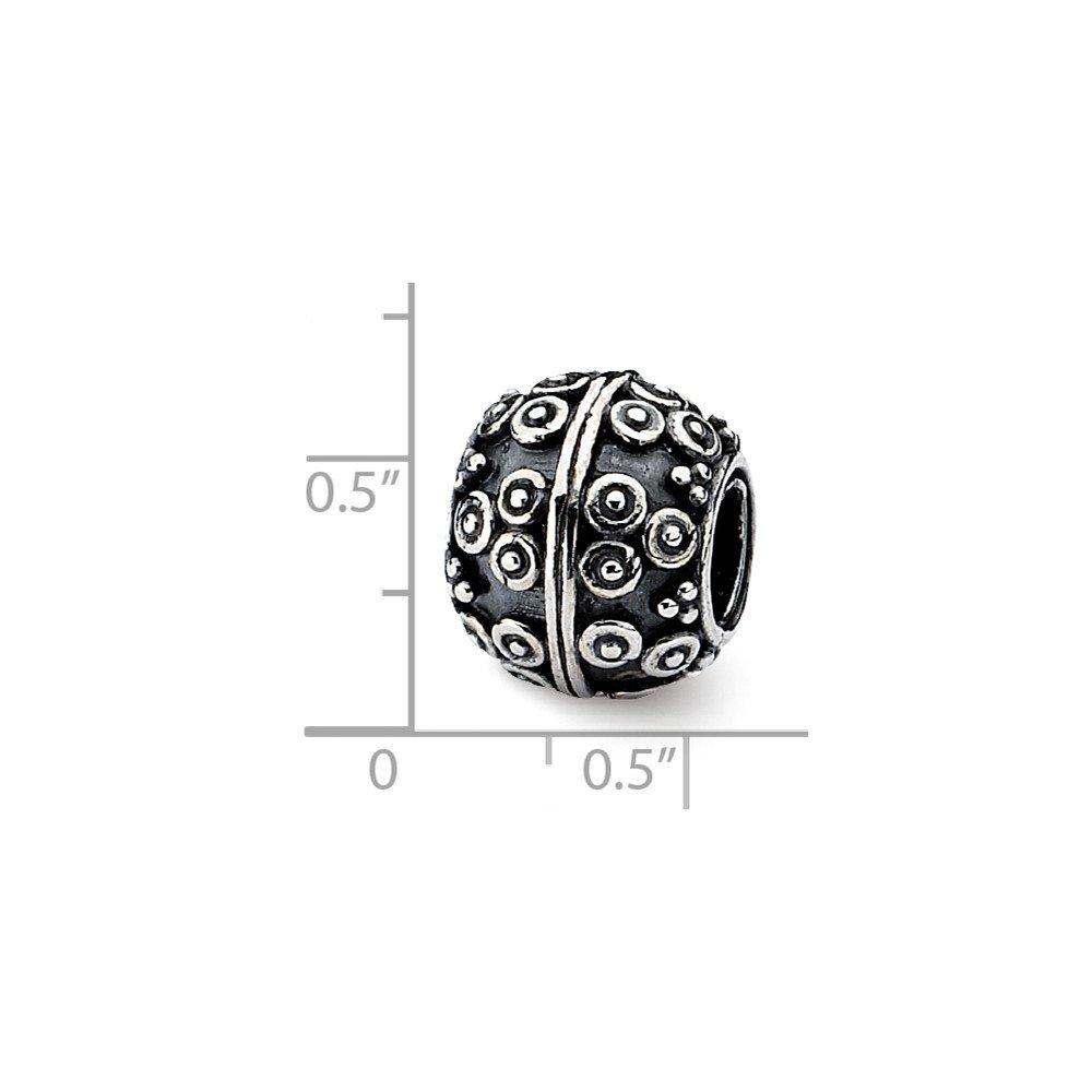 10mm x 10.9mm Jewel Tie 925 Sterling Silver Artisan Bead