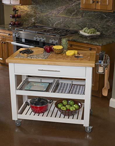 Chris & Chris Chef Series Kitchen Food Prep Island, White