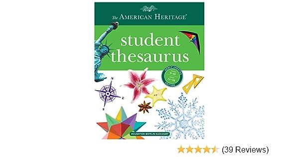 The American Heritage Student Thesaurus Paul Hellweg Joyce