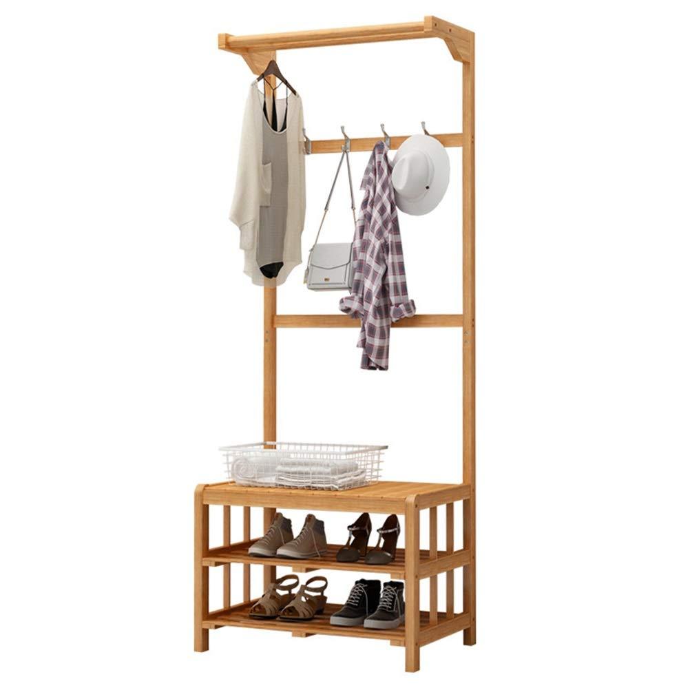 XIAOLONG シンプルコートラック寝室クリエイティブハンガー現代の床服ラック多目的靴ベンチコートスタンド   B07QM4R796