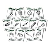 Organic Vegetable Seeds for Planting - 13 Varieties of Non GMO, Non Hybrid, Heirloom Seeds, Open Pollinated Home Garden Seeds - Tomatoes, Kale, Carrots, Broccoli, Arugula, and More