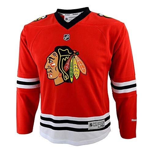 NHL Youth Boys Chicago Blackhawks Red Replica Blank Jersey (Small/Medium)