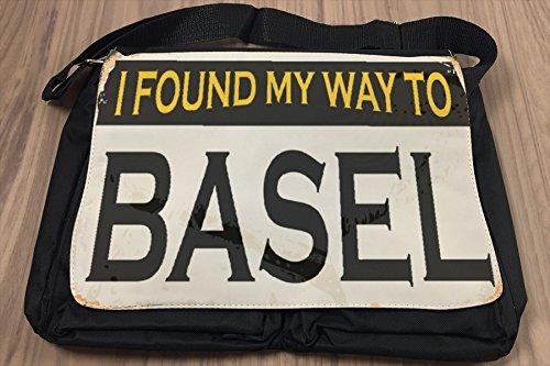 Borsa Tracolla Città Basilea Svizzera Stampato