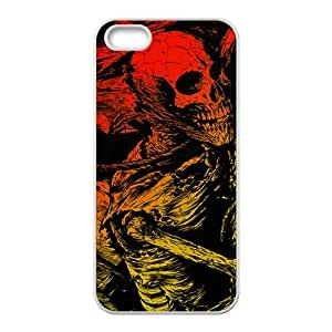 Battered human skeleton Phone Case for iPhone 5S(TPU)