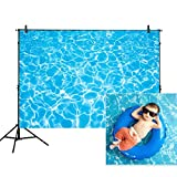 water photo - Allenjoy 7x5ft photography backdrops party summer swimming pool water ripple Birthday banner photo studio booth background newborn baby shower photocall