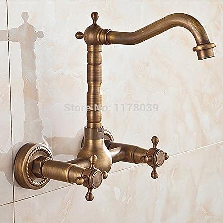 Fauceting rétro mural salle de bains de luxe double croix ...
