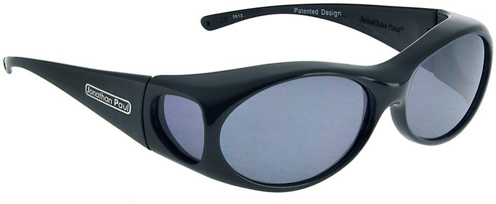 Fitovers Eyewear Aurora Sunglasses Midnight Oil - Polarized Grey Lens - Oval - 133mm X 39mm or 5 - 1/4'' X 1 - 1/2''