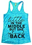"Women's Hip Hop Burnout Tank ""Little in the Middle but she got much back"" Funny Threadz X-Large, Blue"