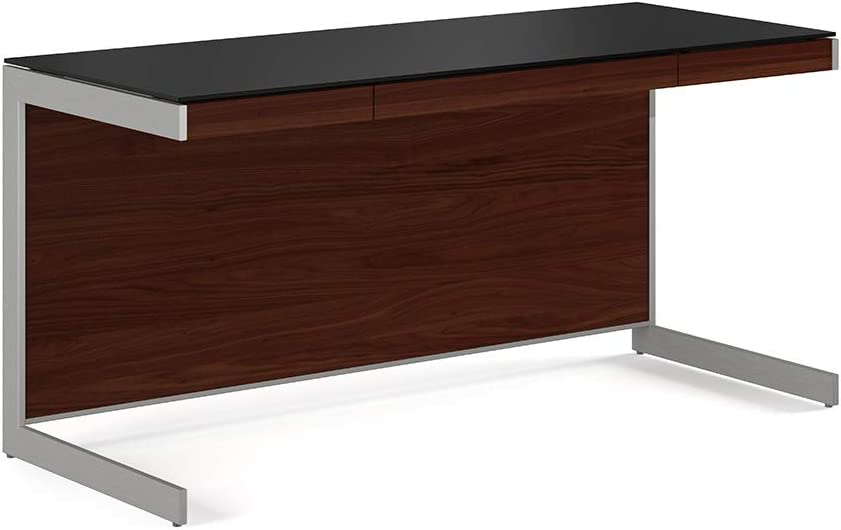 BDI Sequel Office Desk, Chocolate Stained Walnut