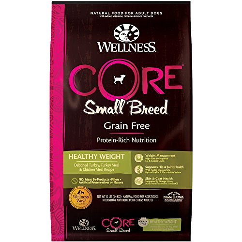 Wellness Core Natural Grain Free Dry Dog Food, Small Breed Healthy Weight, 12-Pound Bag