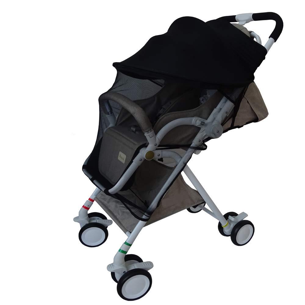 Baby Stroller Mosquito Net,Baby Stroller Sunshade Cover,Canopy Infant Stroller Netting,Breathable Black Jogging Bug Net. DGou