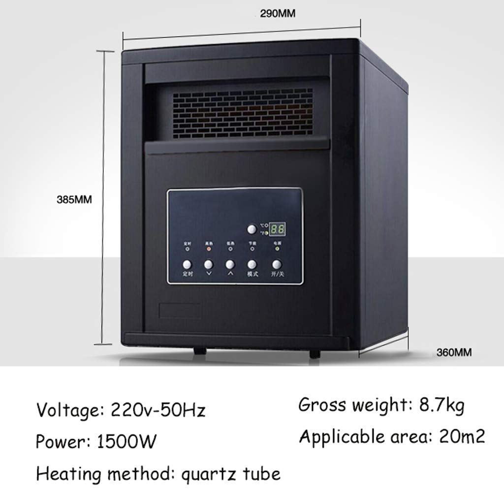 GLJY Chimenea eléctrica Moderna Negra, Calentador Interior de Estufa, Control de termostato, agrega un Toque Acogedor a Cualquier Sala de Estar, ...