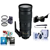 Nikon 200-500mm f/5.6E ED AF-S VR Zoom NIKKOR Lens - U.S.A. Warranty - Bundle with 95mm Filter Kit, Flex Lens Shade, Cleaning Kit, Cap Leash, Software Package