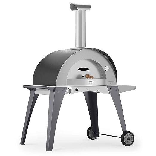 Alfa Horno a gas GLP de exterior (acero Pizza Domo gris: Amazon.es ...