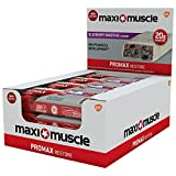 Maximuscle 60 g Blueberry Smoothie Flavour Promax High Protein Bar - Pack of 12