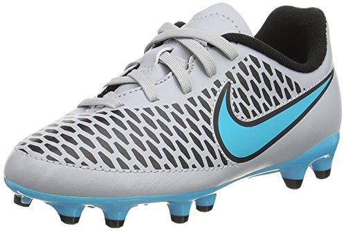 NIKE Youth Magista Onda Firm Ground [Wolf Grey/Black/Turquoise Blue] (3.5Y) by NIKE