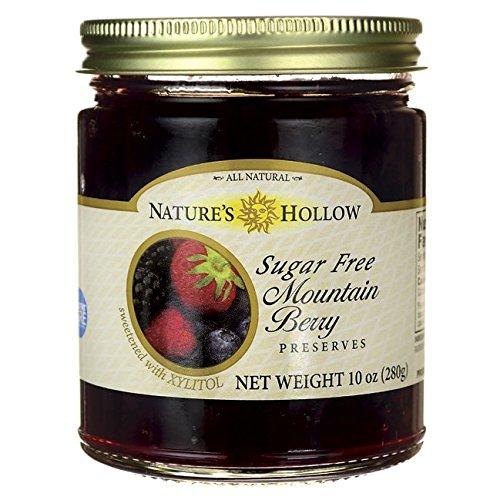 Nature's Hollow Sugar Free Mountain Berry Preserves 10 oz Jar