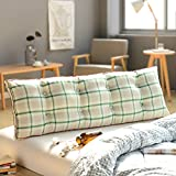 Reading pillow,bedside Back cushion Sofa Soft roll Tatami mats Back cushion Home office lumbar pad with removable cover-J 8x20x47inch(20x50x120cm)