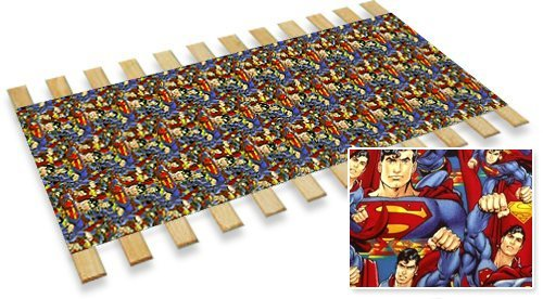 Superman Themed Twin Size Custom Width Bed Slats - Choose your needed size - Eliminates the need for a link spring or box spring! by The Furniture Cove