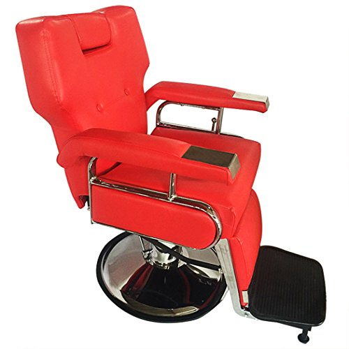 All Purpose Barber Chair Hydraulic Real Relax Salon Beauty Spa Styling (Red) (Shop Chair Barber Cheap)