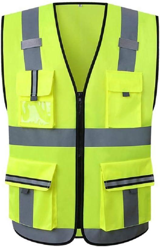 Lantra Besa Damen Herren Sicherheitsweste Warnweste f/ür Radfahren und Joggen mit Rei/ßverschluss und Taschen Hohe Sichtbarkeit AR0015