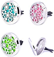 Mesinya Spring Garden(38mm) Air Freshener Diffuser Stainless Steel Car Aromatherapy Free Pads Essential Oil Ca
