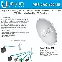 Ubiquiti Networks PBE-2AC-400 US airMAX PowerBeam 2.4GHz 802.11ac High Gain Dish CPE 400mm